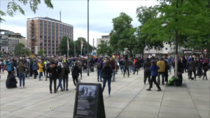 Blacklivesmatter Demonstration Platz der alten Synagoge