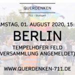 Querdenken - Großdemo in Berlin Ankündigung 01 August 2020
