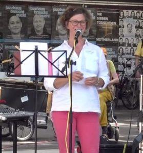 Querdenken-761 Freiburg Psychologin Juliane Prentice 18.07.2020