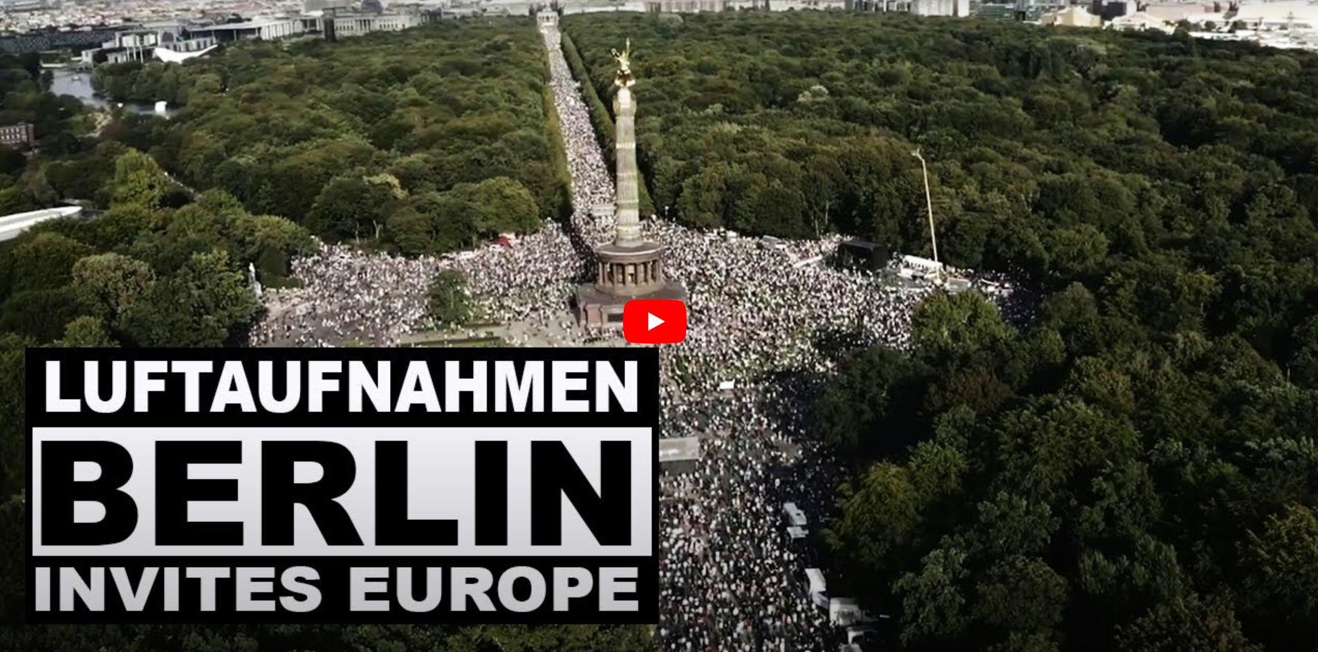 29 August 2020 Luftaufnahmen, Berlin, Demonstration Querdenken Videocesar