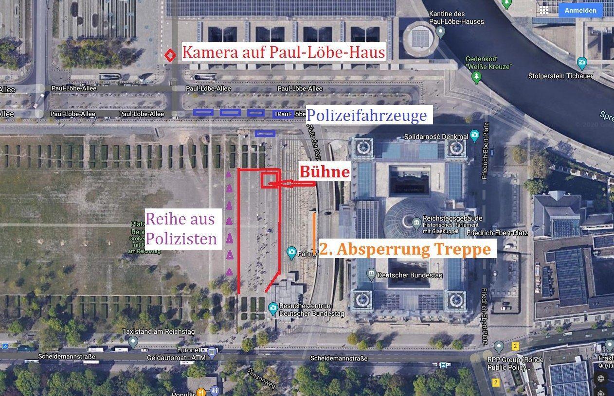 Berlin 29.08.2020 Der Vorfall bei der Reichstagstreppe - eine Inszinierung?