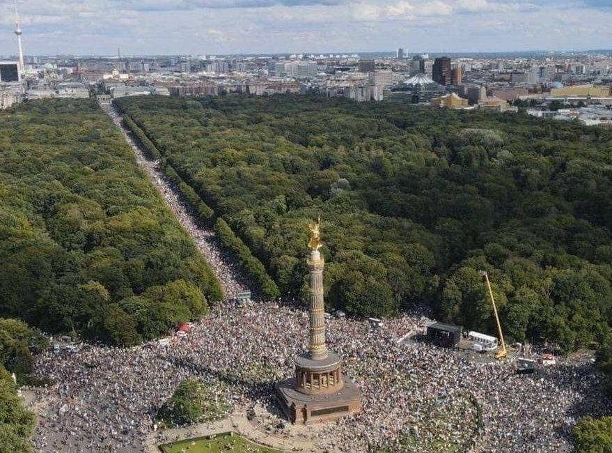 Wenn das nicht die größte demonstration Deutschlands war..