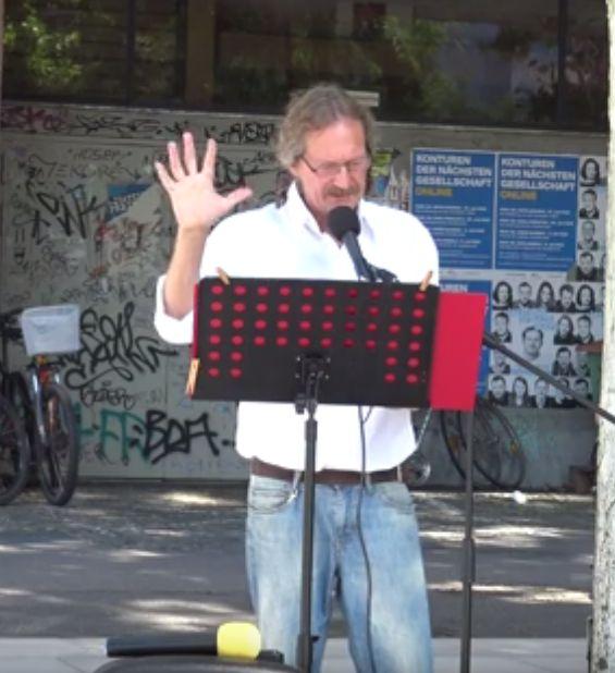 Ullrich Gläser Querdenken Freiburg Demonstration 15.08.2020